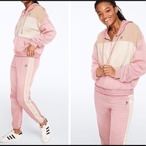 Large PINK Quarter Zip Pullover and Jogger Pants